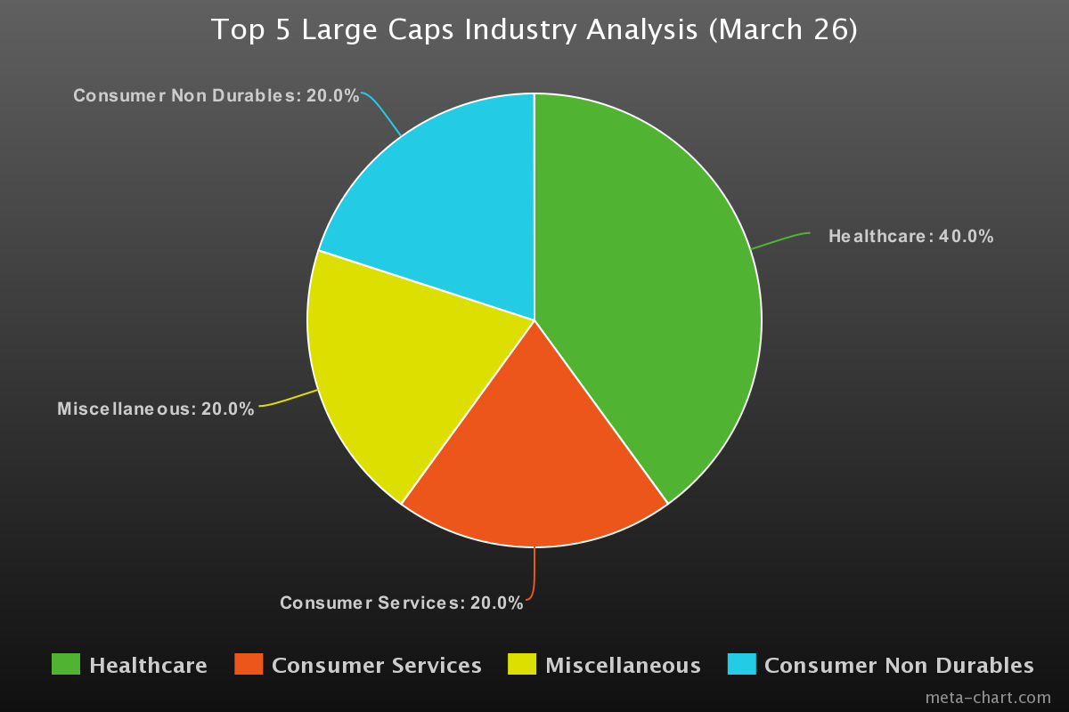 Top Large Caps Industry Analysis (March 26)