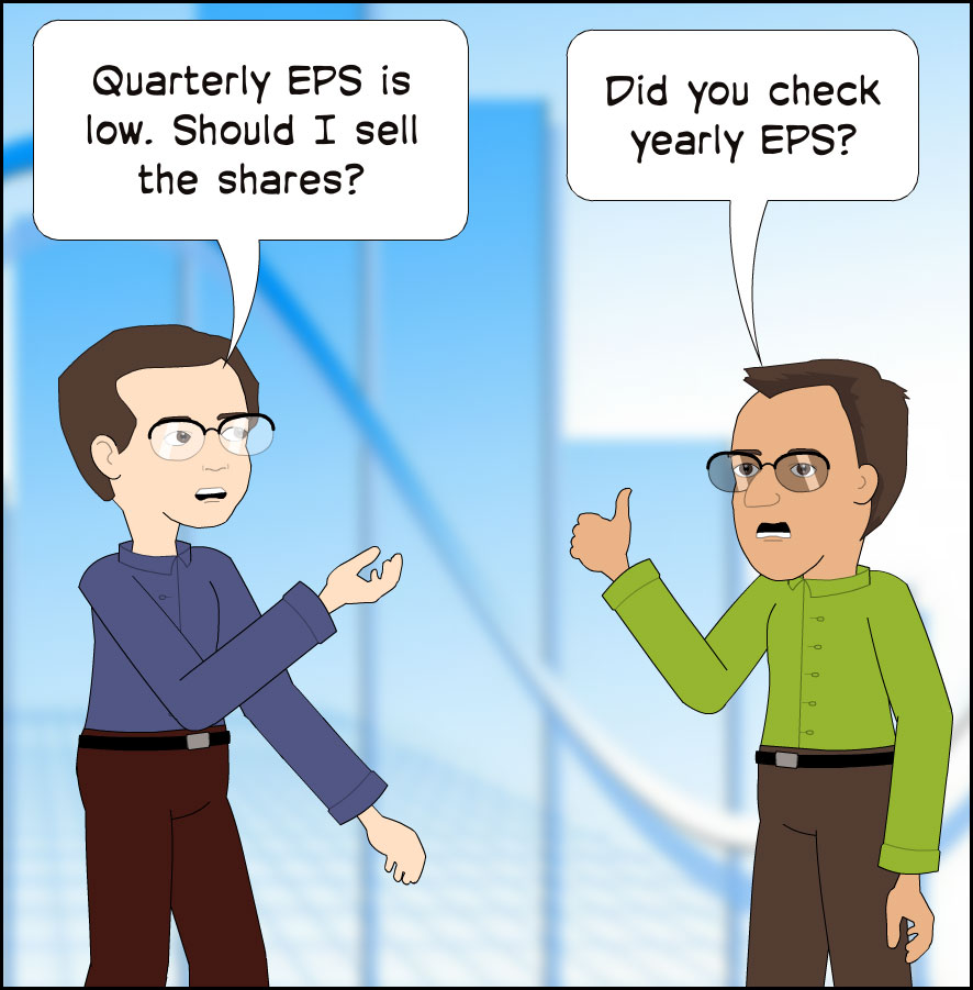 quarterly EPS is low