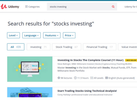 Udemy Stock Investing Online Courses