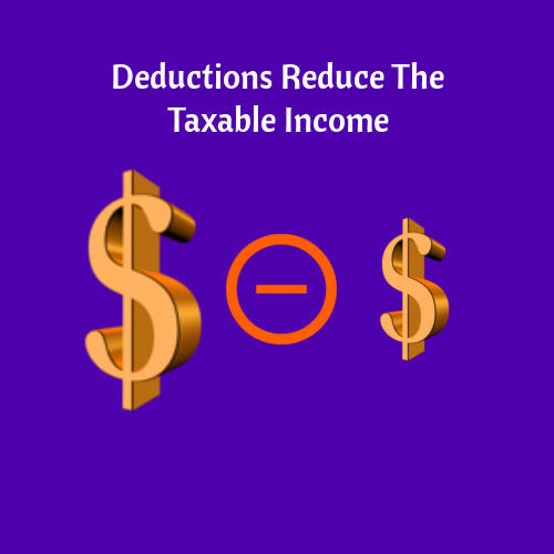 Deductions Reduce Taxable Income